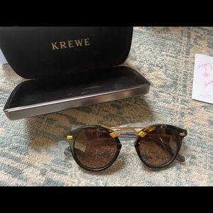 KREWE STL II   Cobra to Black 24K × 1 Sunglasses